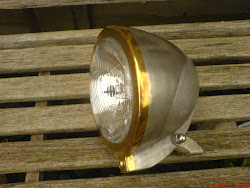 HEADLIGHT WITH BRASS RIM