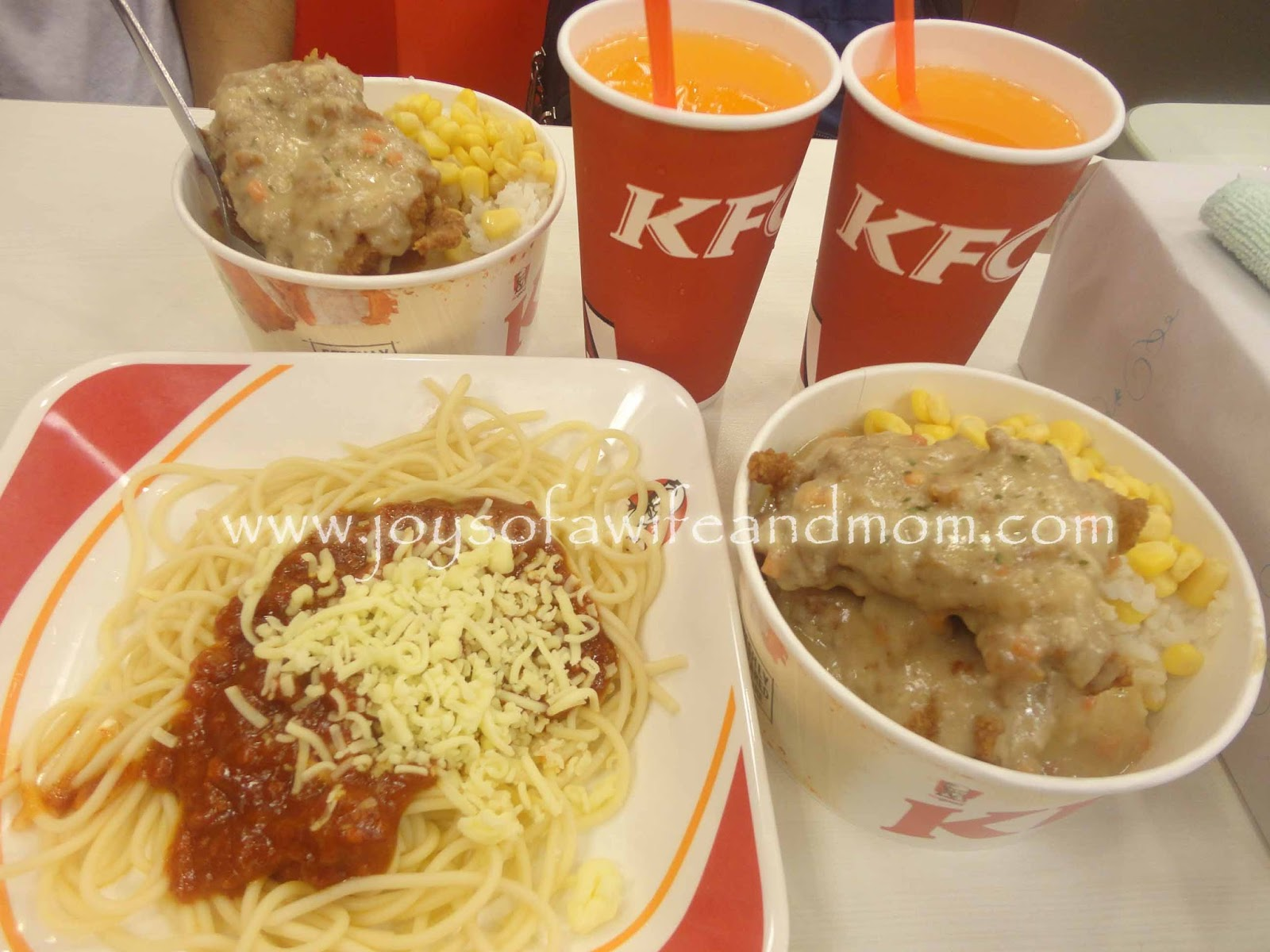 Supreme Bowl and Spaghetti from KFC Trinoma