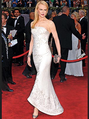 White Dress on Jewelry  Fashion And Celebrities  Nicole Kidman Oscar Dresses