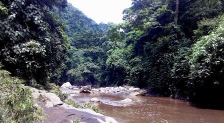 jalur menuju lokasi air terjun coban baung