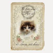 VINTAGEKORT för oss som ÄLSKAR katter