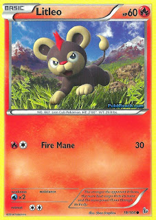 Litleo Flashfire Pokemon Card