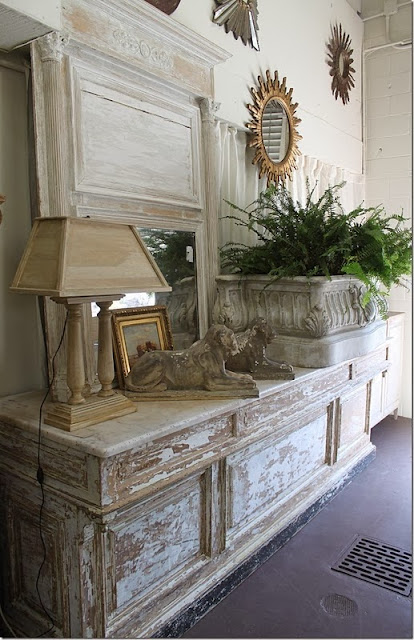 rustic vignette styling chest gold accessories