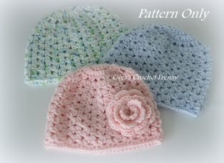 Clusters Baby Beanie Crochet Pattern, Size 3-6 Months, $1.85