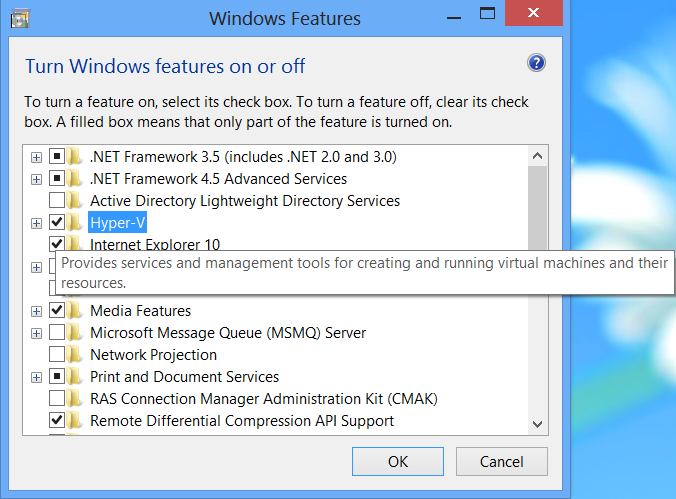 2.+Tick+Hyper V Hyper V : Virtual Machines di Windows 8