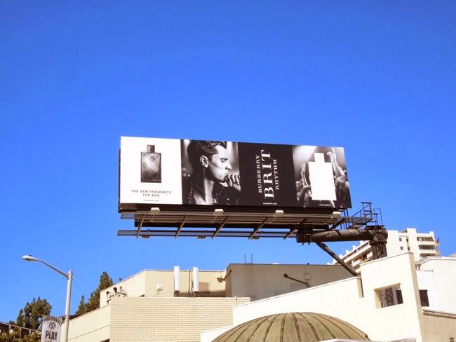 Burberry Brit Rhythm fragrance billboard