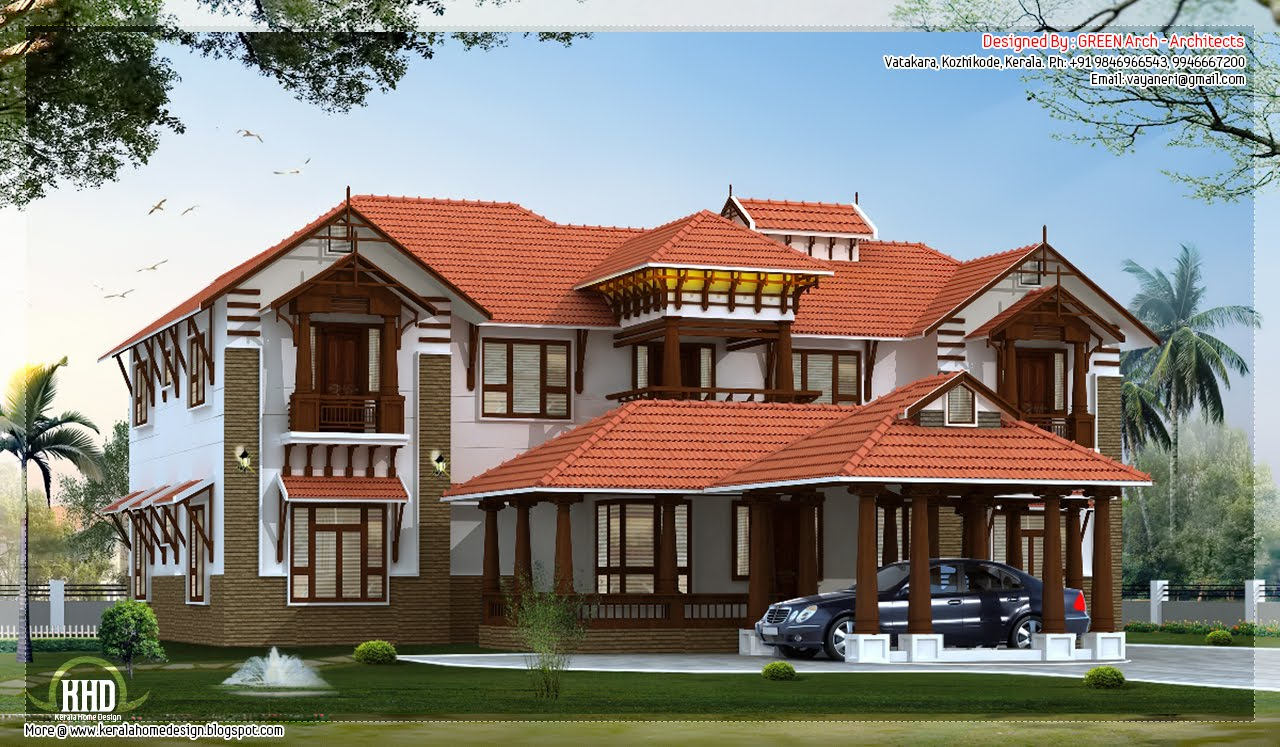 3800 Luxury Villa Elevation House Design Plans