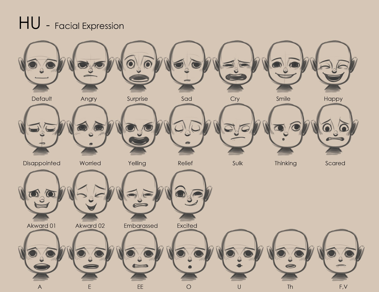 Can drawing expression facial love