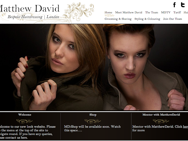 Matthew David: New Look Website