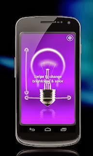 membuat cahaya lampu pijar dari hp android dengan Tiny Flashlight + LED
