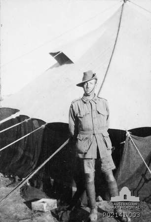 Albert Jacka VC At Mudros C 29 August 1915 Australian War Memorial Image P02141