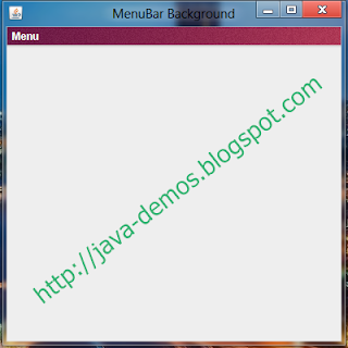 Background Image for JMenuBar