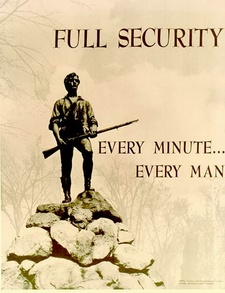 Minute man security poster