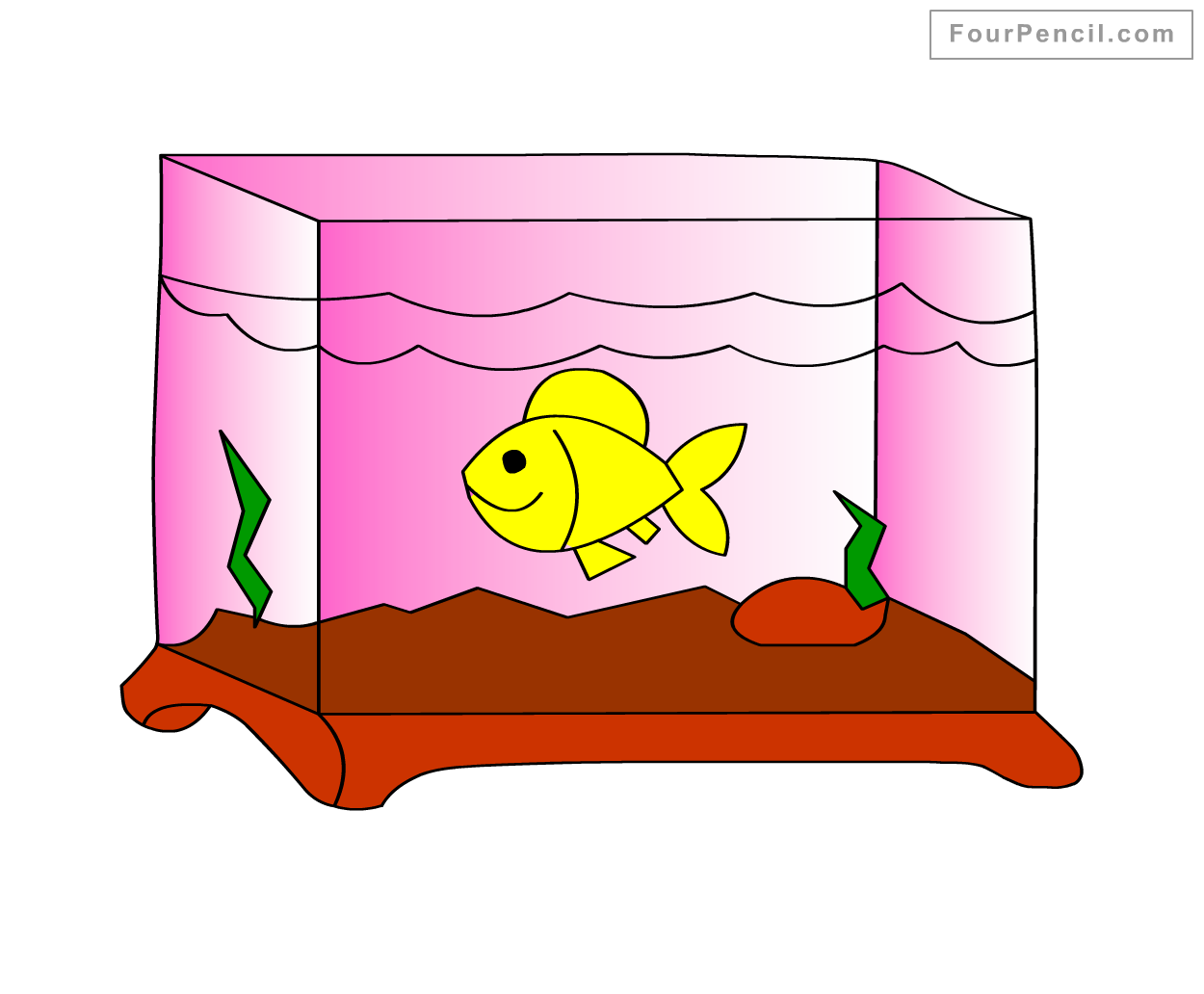 Fish tank drawing pictures -  Draw Fish Tank Slide 4 Draw Fish Tank Drawing How To Draw A