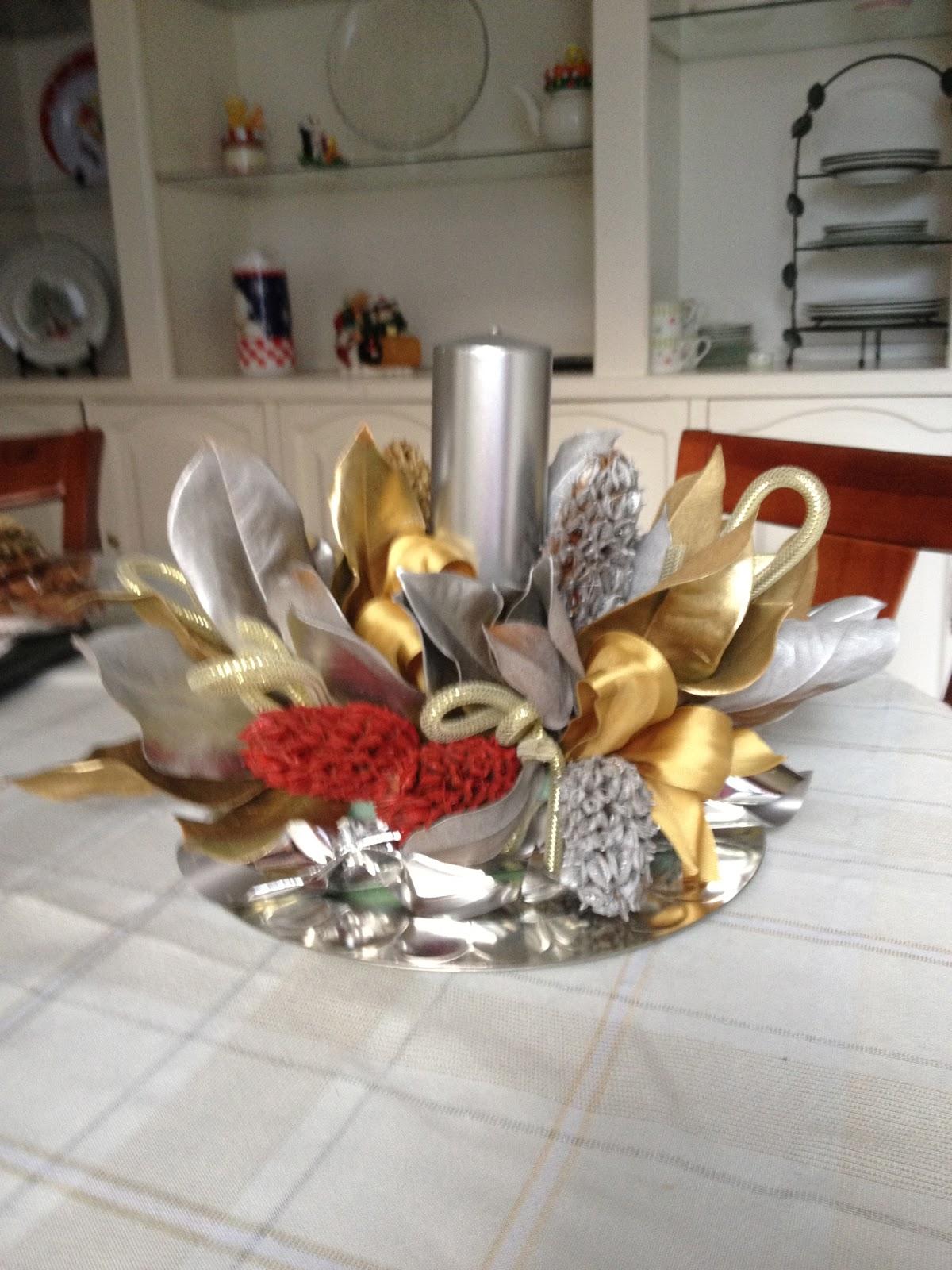 Bola s reposteria arreglo de mesa navide o for Arreglos navidenos para mesa