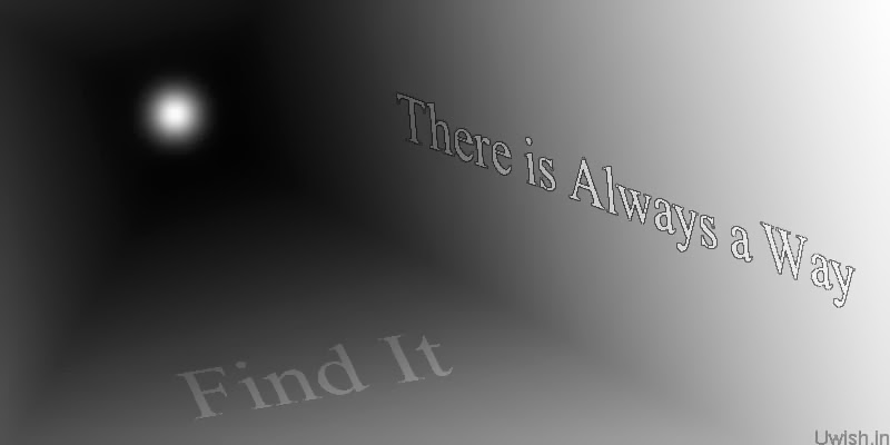 "Motivational and Inspiration quotes and wishes ""There is always a way"""
