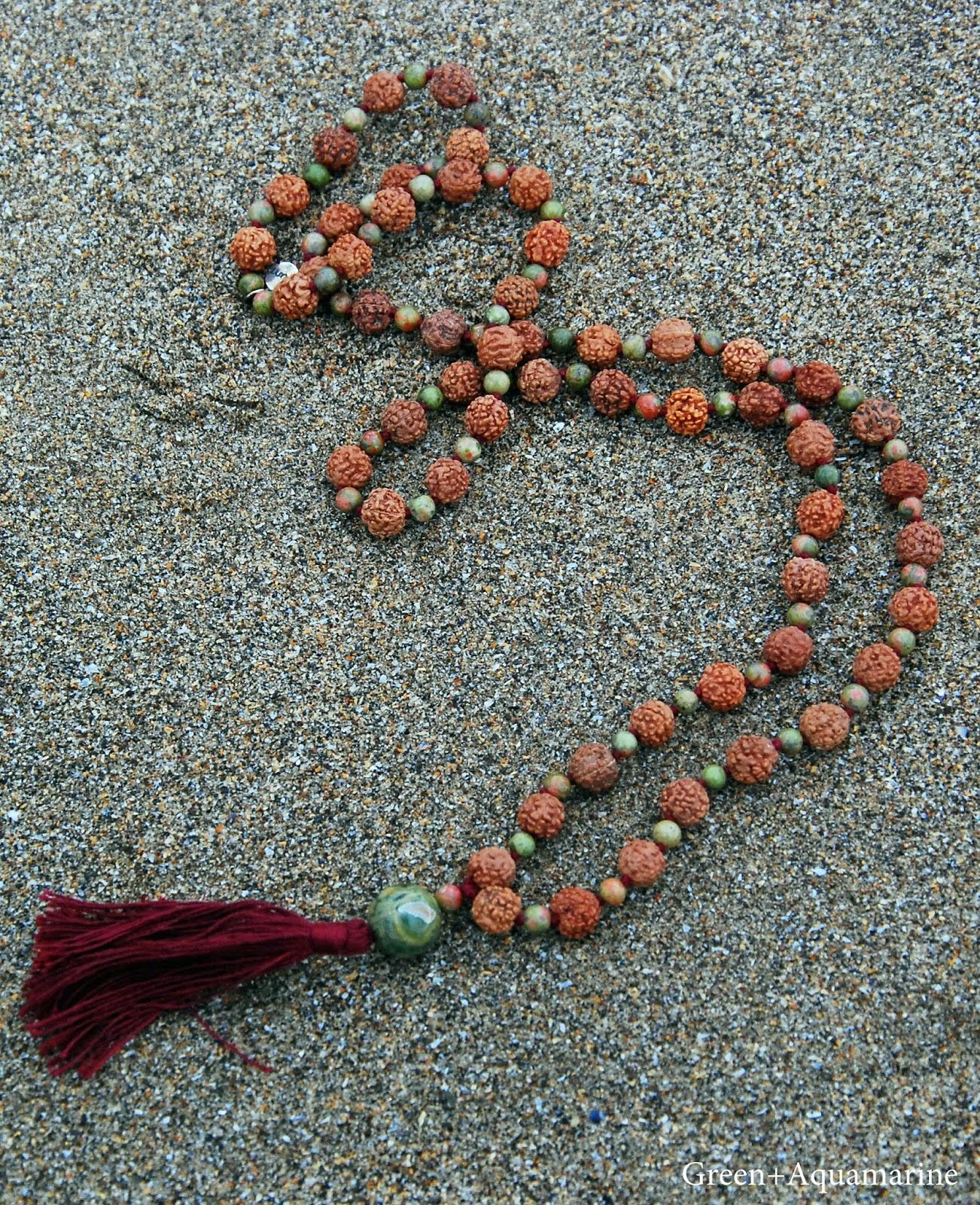 Mala beads, yoga, meditate