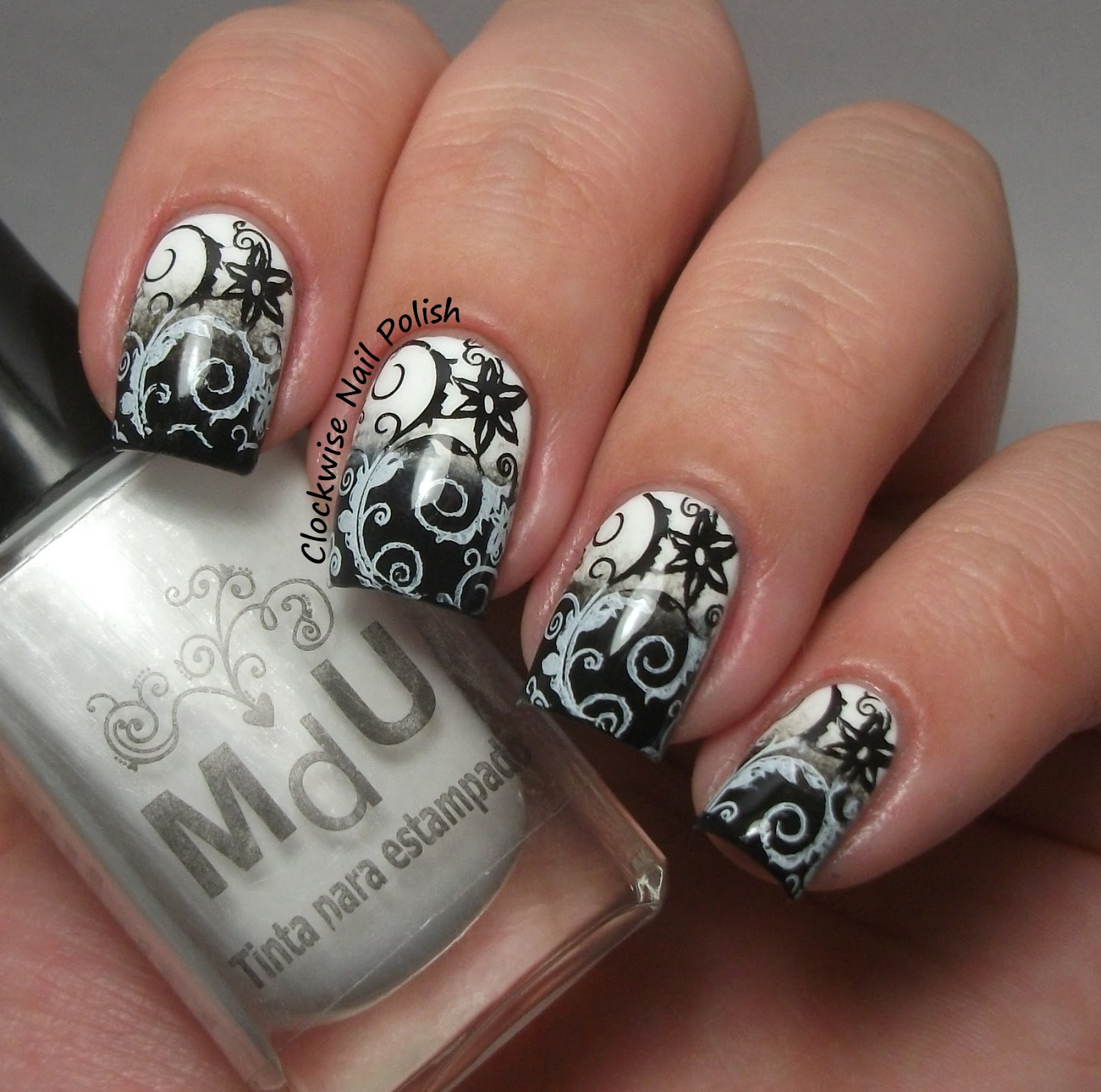 Que Significa Black Nail Polish: The Clockwise Nail Polish: Sunday Stamping Challenge