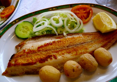 dover sole with papas arrugadas Los Carracolitos Salinas