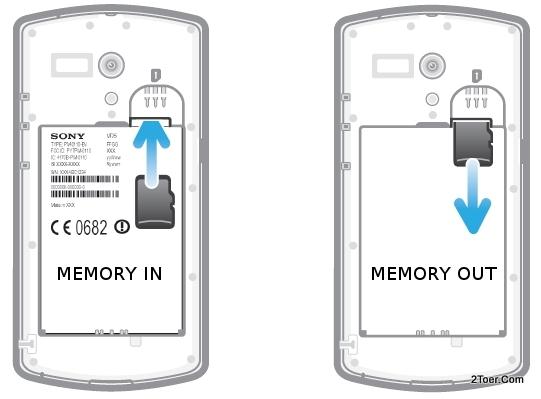 Insert microSD Card Remove Memory Install Slot MT25 Sony Xperia neo L