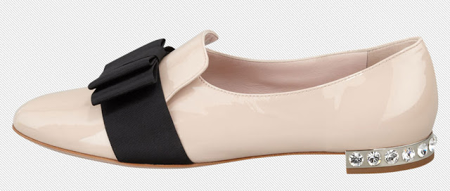 Miu+Miu+patent+leather+grosgrain+bow+loafer