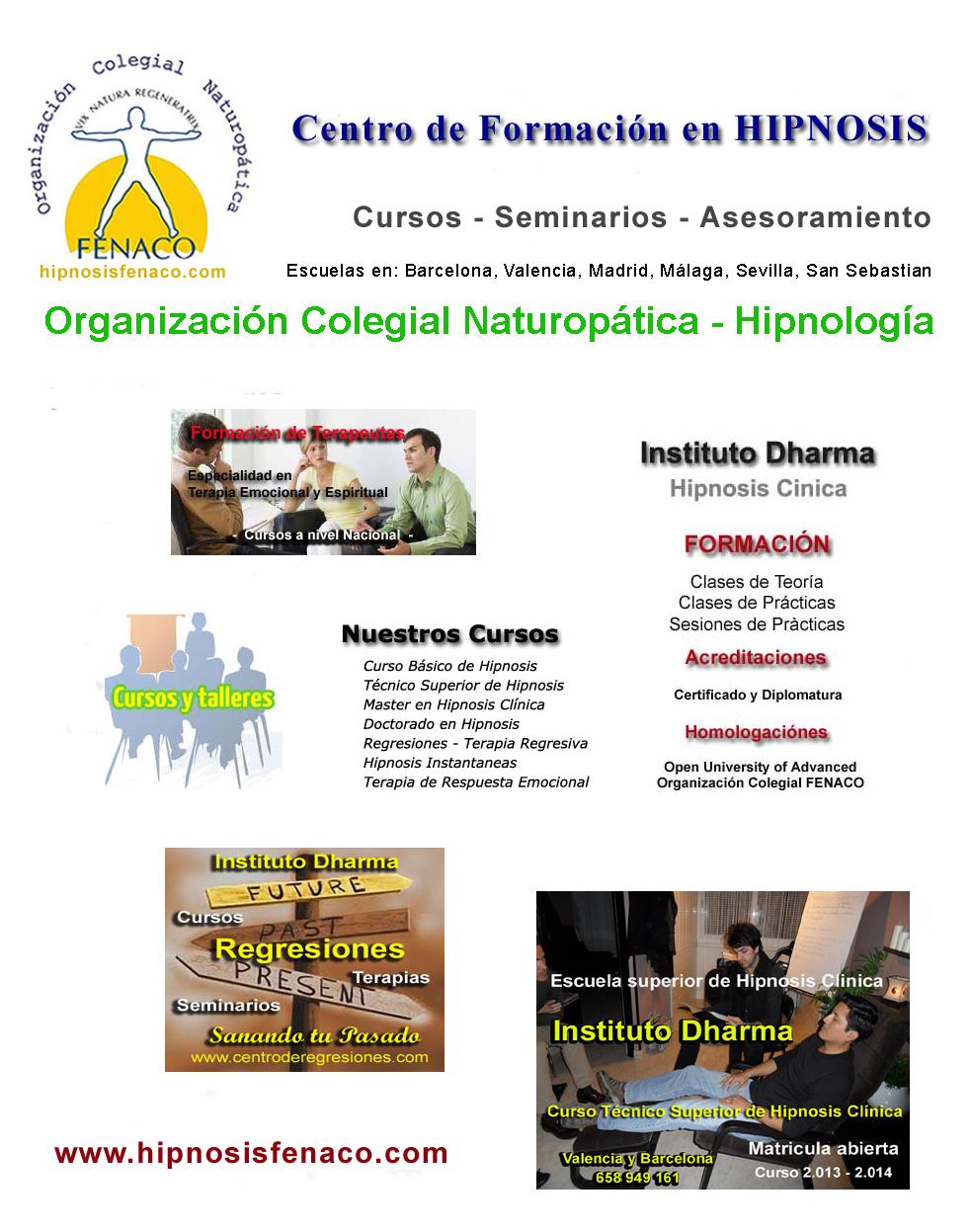 Cursos de hipnosis escuela de hipnosis tecnica superior en for Escuelas de jardineria en barcelona
