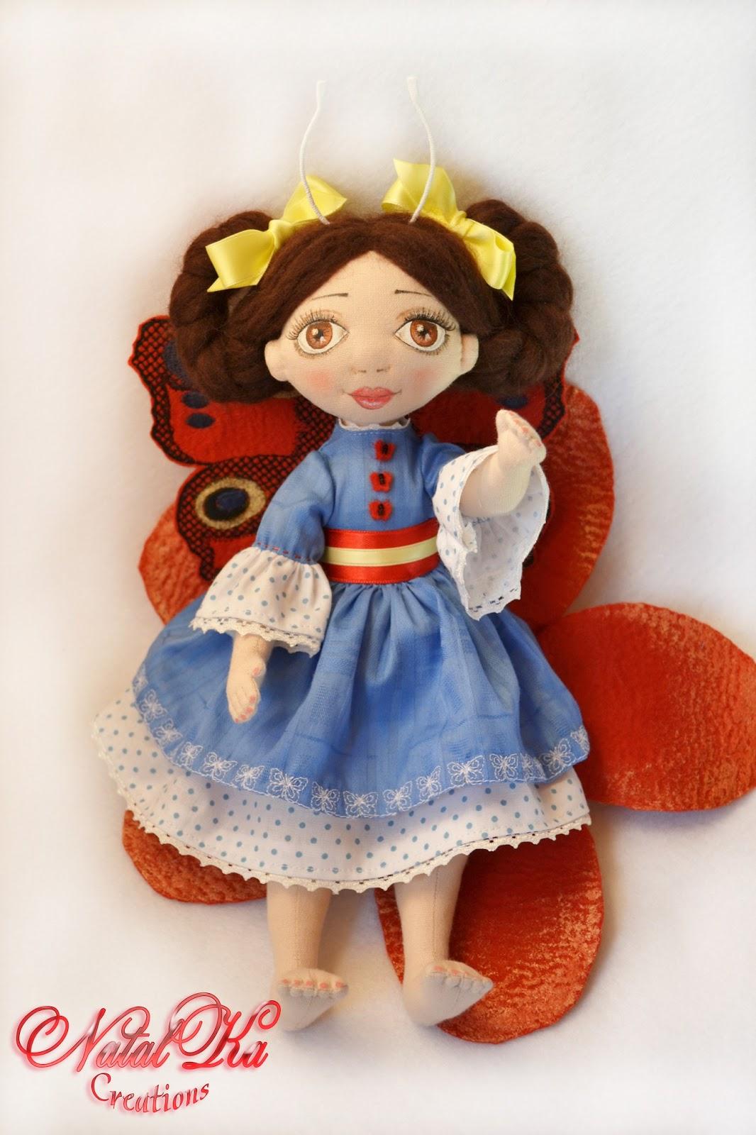 Cloth art doll Katrin. Handgemachte Stoffpuppe Katrin