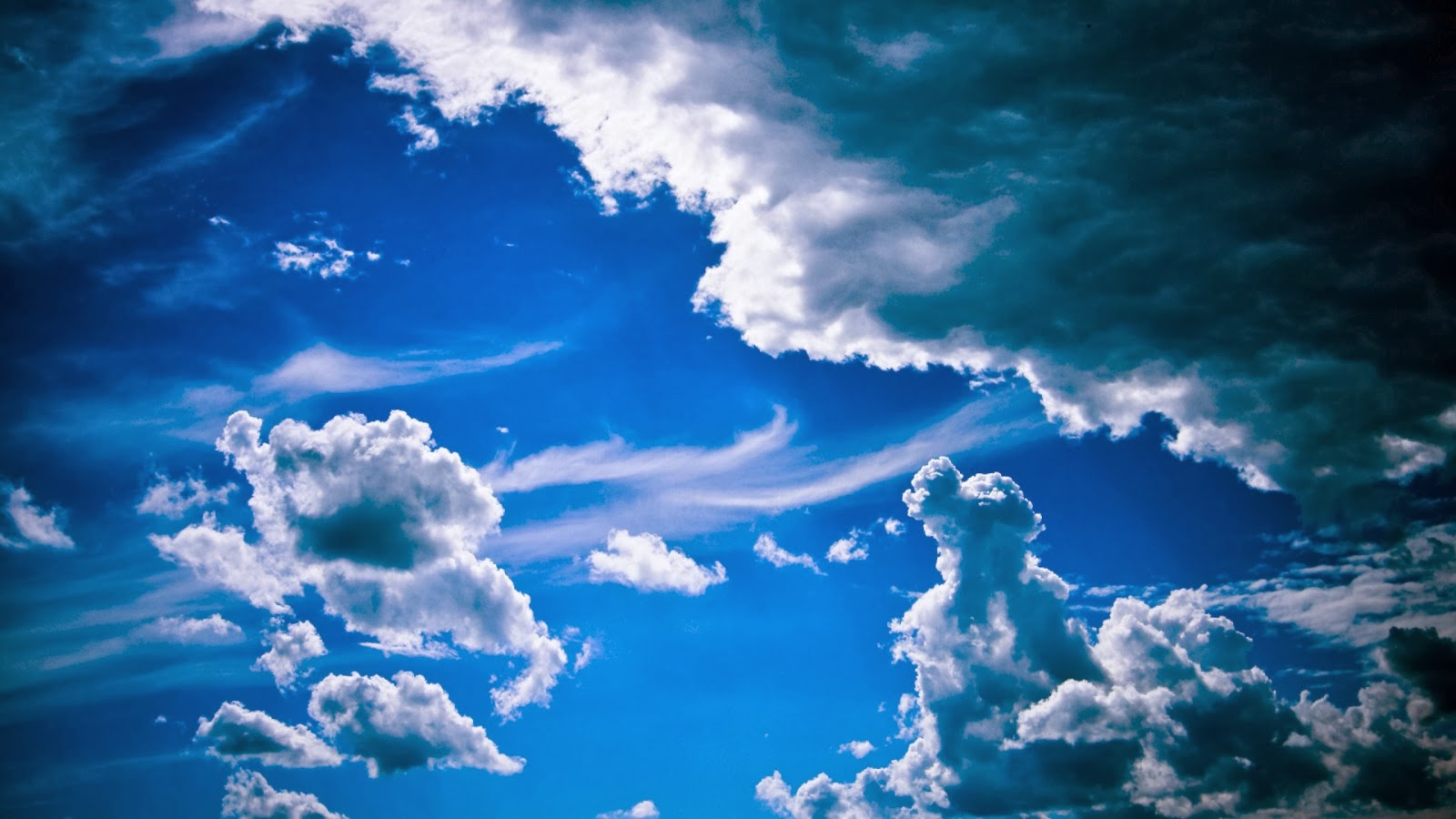Blue Cloudy Sky Beautiful Nature Images And Wallpapers