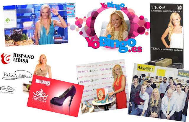 belen esteban imagen publicitaria collage marcas