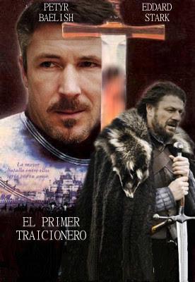 Petyr Baelish y Eddard Stark en El primer traicionero