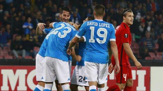 Hasil laga Napoli 5-0 Midtjylland
