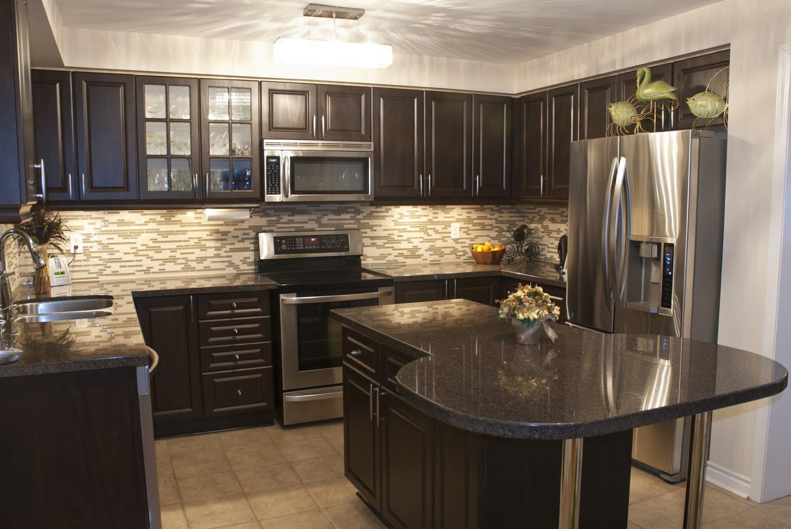 25 most popular luxury kitchen designs abcdiy - Dark wood cabinets kitchen design ...