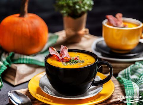 Zupa dyniowo - ziemniaczana