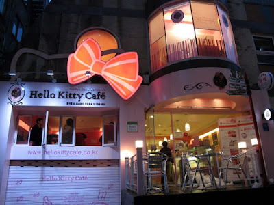 Cute Time at Hello Kitty Cafe, Hongdae