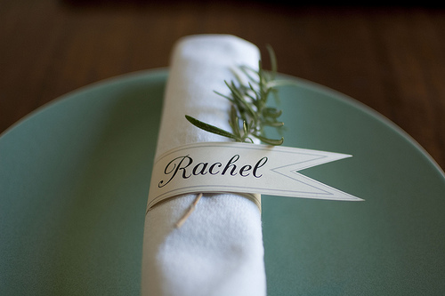 Challenger image with printable napkin rings