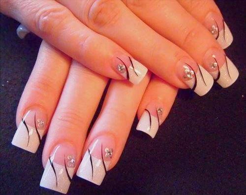 imagenes de uñas decoradas 2014 , la salud en las uñas , diseños , pintados