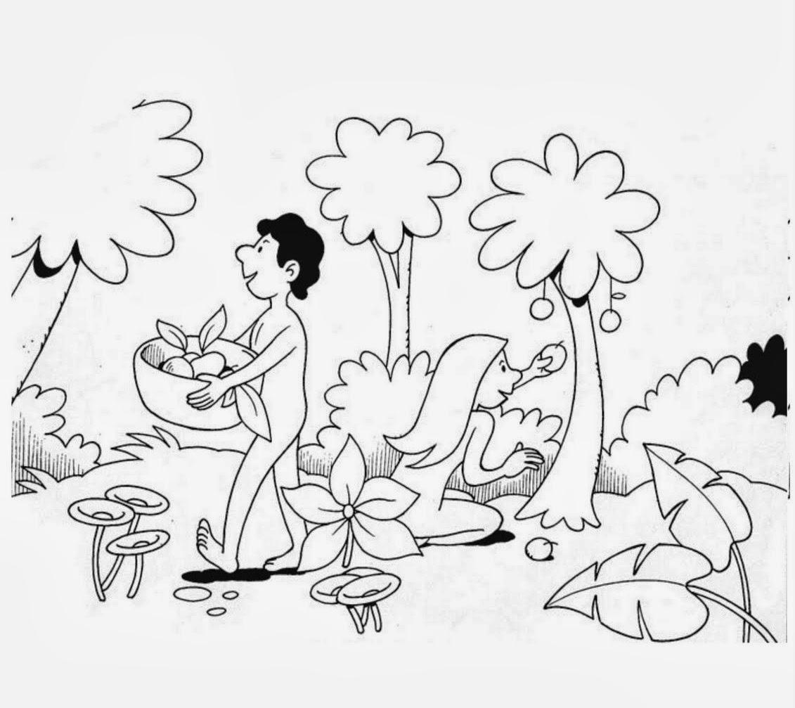 Me aburre la religi n ad n y eva para preescolares for Adan y eva en el jardin