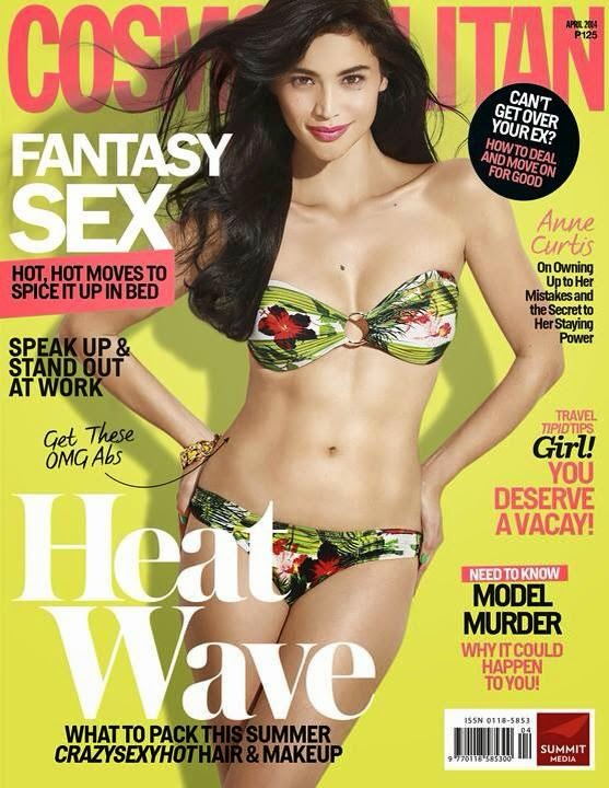 Anne Curtis Covers Cosmo mag April 2014 issue