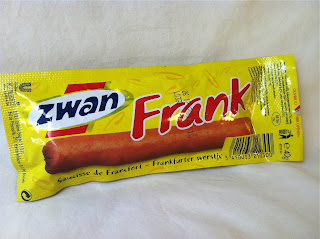 Frank brand hot dog in a pouch