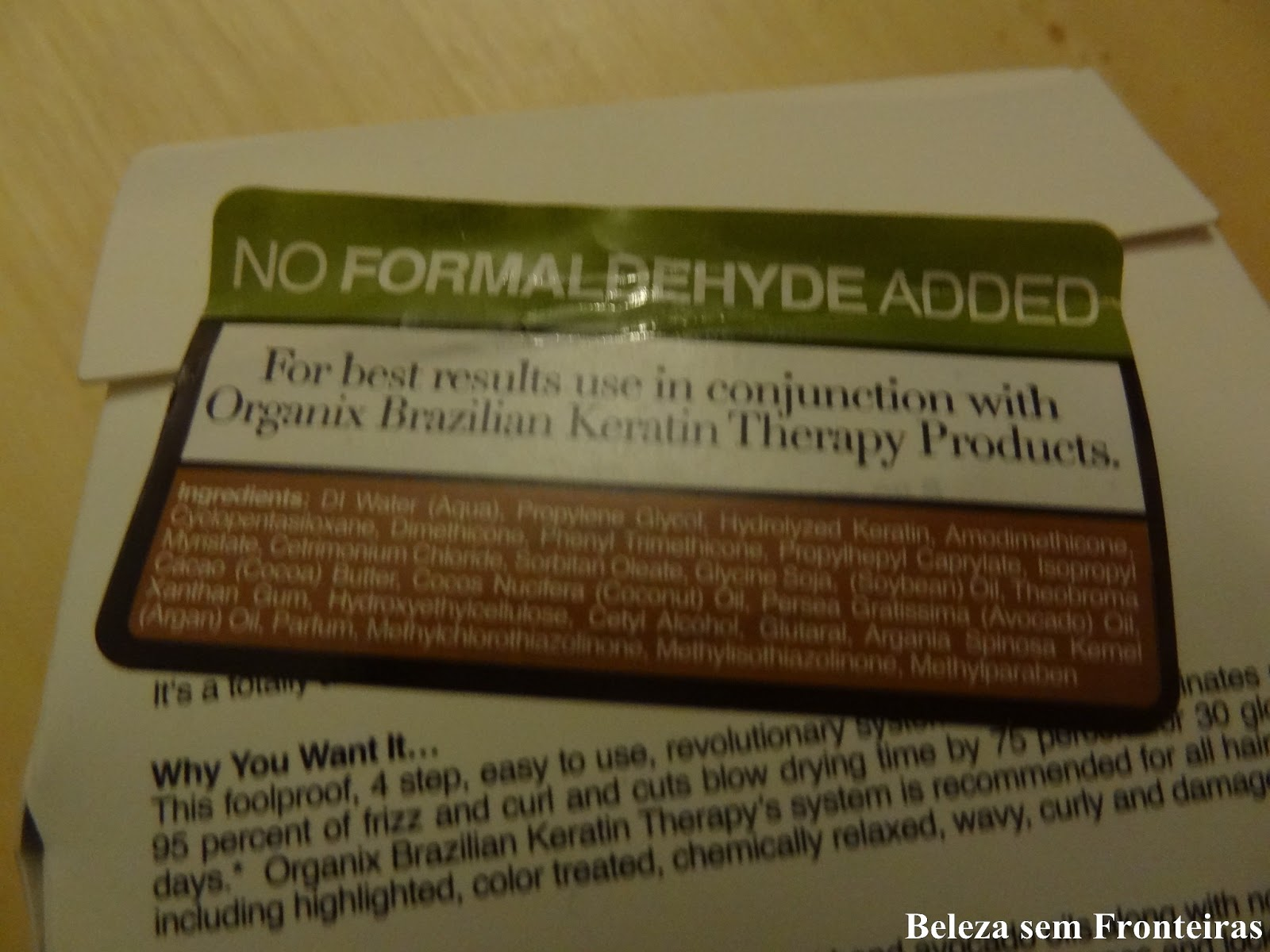 : Brazilian Keratin Therapy Smoothing Treatment 30 days Organix