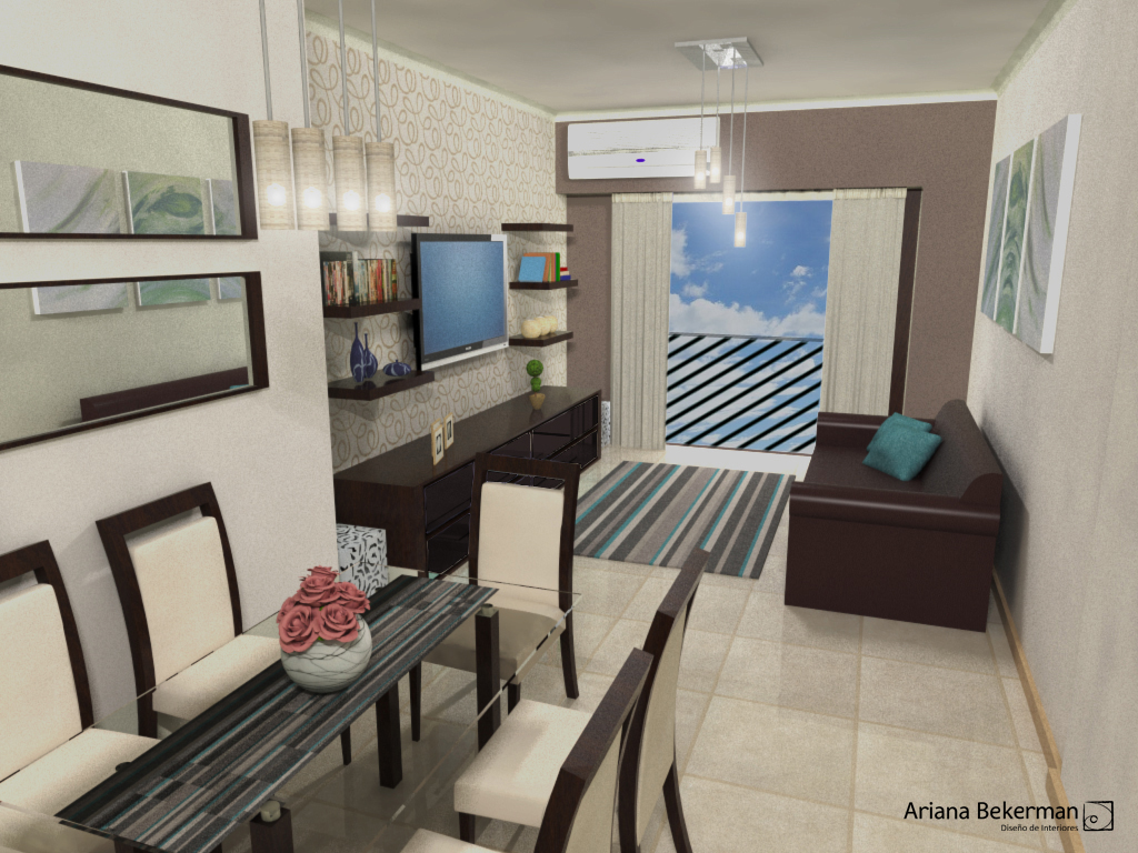 Dise o de living comedor ariana bekerman consulting design for Ambientacion living comedor