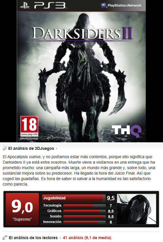 Darksiders 2 [PS3][Esp][3.55]