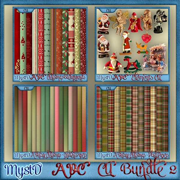A Vintage Christmas CU Bundle 2