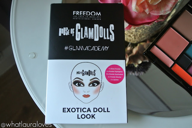 Freedom House of GlamDolls Exotica Doll Look Palette Lipstick Shades Outer Packaging