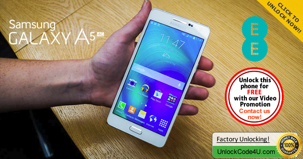 Factory Unlock Code for Samsung Galaxy A5 from EE UK