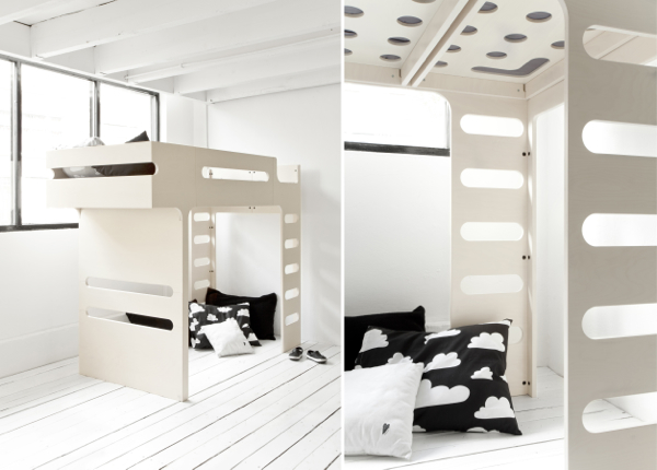 Rafa Kids Rafa Kids F Bunk Bed Whitewash