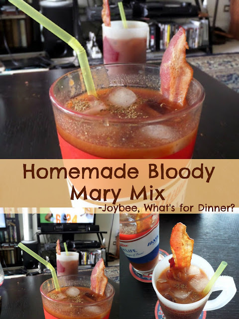 Homemade Bloody Mary Mix:  A simple bloody mary mix made from tomato paste.