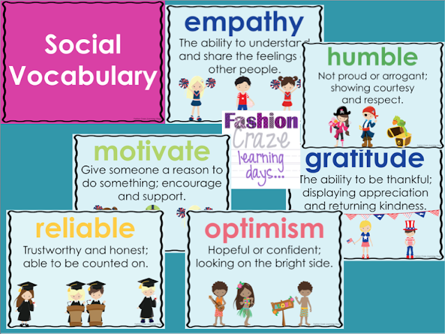 Social Vocabulary Posters