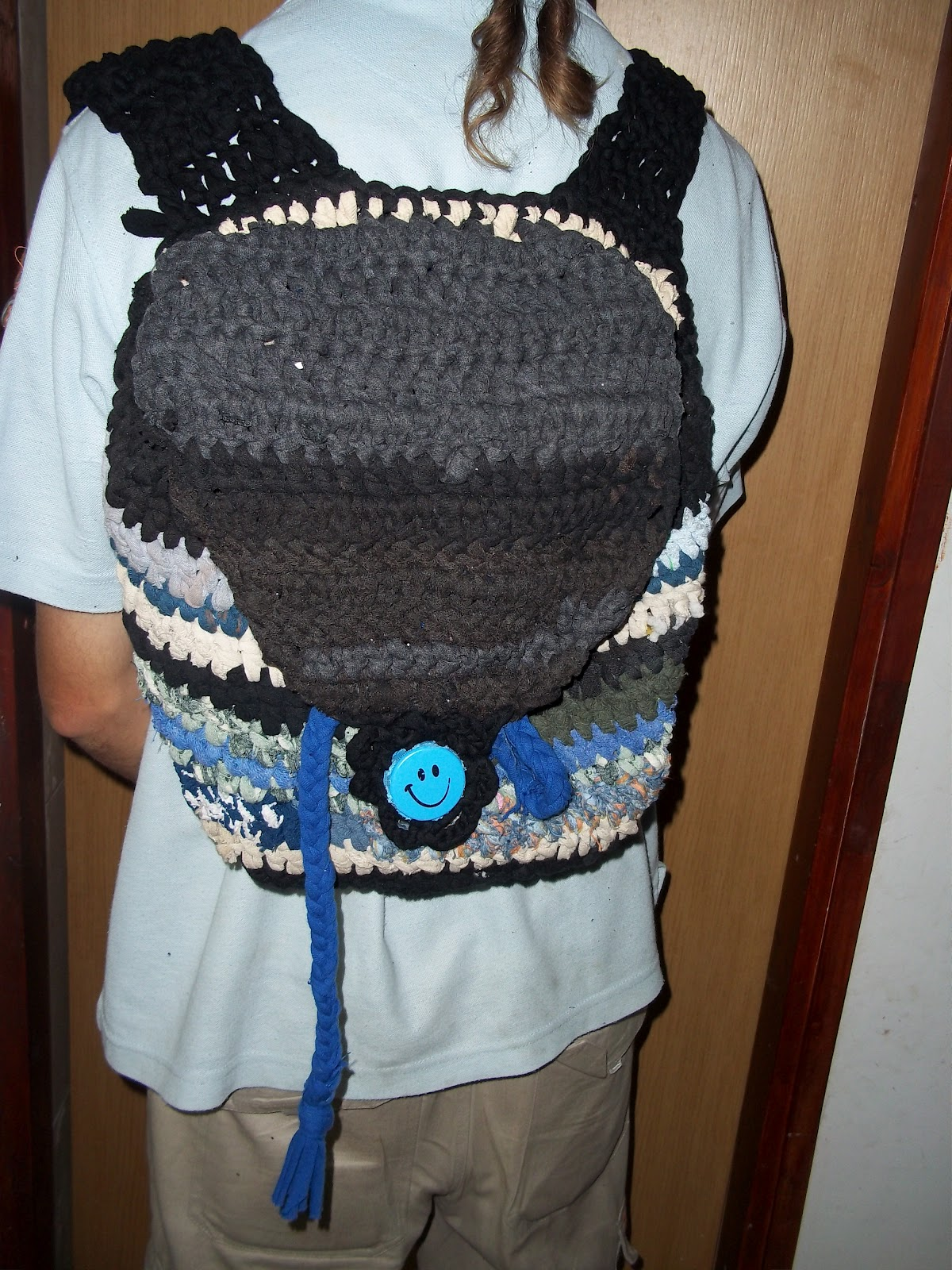 Upcycled Crocheted Backpack Made From Old Socks Tutorial