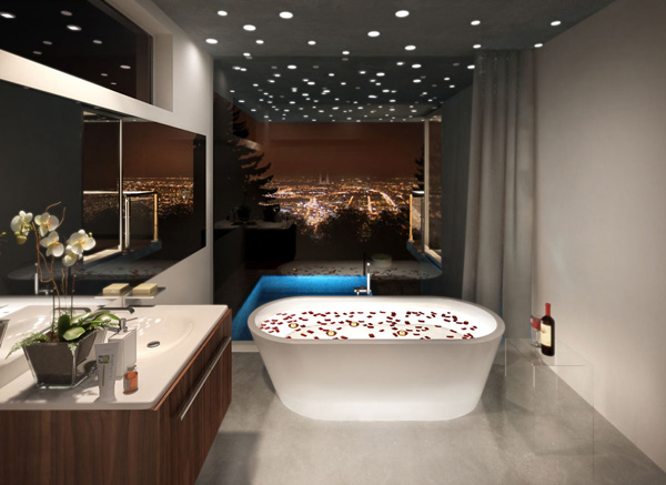 Inspiring interiors a luxurious bathroom modern home minimalist